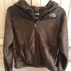 North face jacket - size small - brown